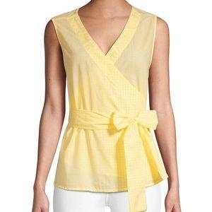 BeachLunchLounge Yellow Gingham Sleeveless Blouse